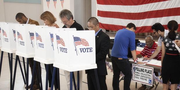 Americans voting