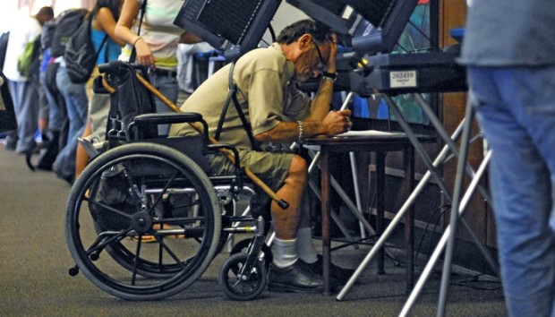 Voting aids for disabled