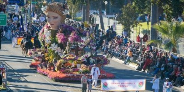 rose bowl parade: Helping mother nature thrive float