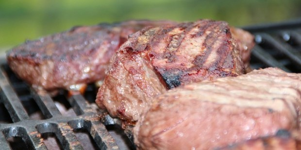 dietary guidelines: steaks on a grill