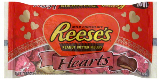 reese's chocolate hearts: Bag of miniature, individually wrapped Reese's hearts