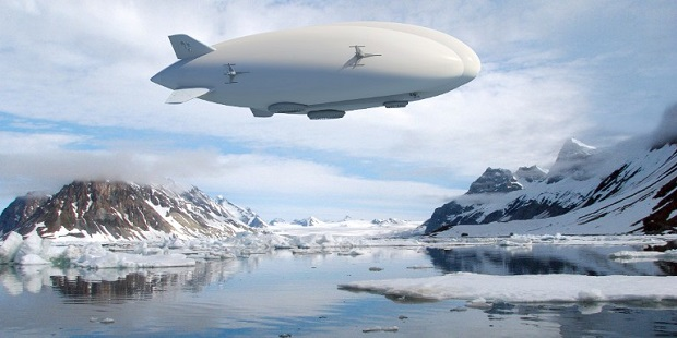 Airship render over Arctic