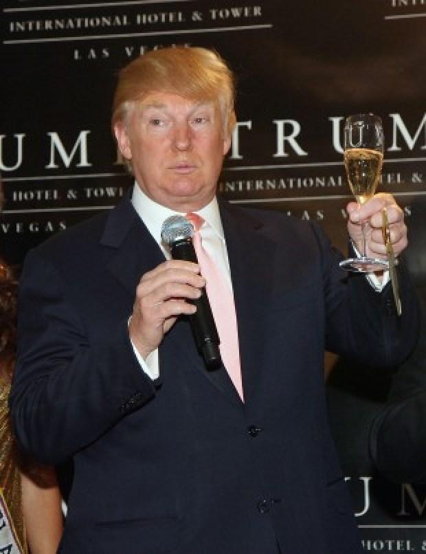 Donald Trump champagne