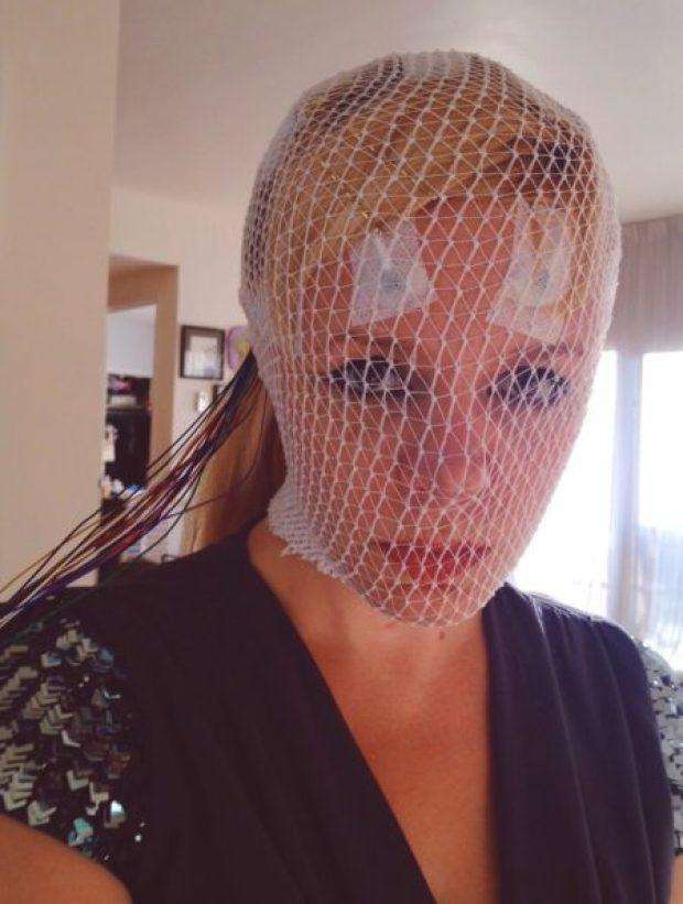 Hospital Glam selfie Gehrig