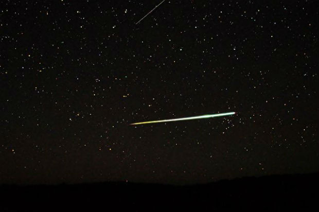 Photo of meteor