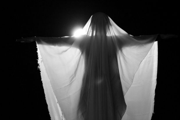 ghosts migrate Photo: silhouette of ghost