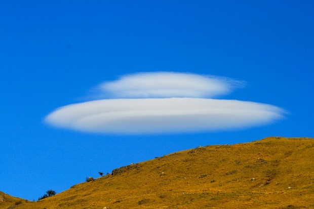 Photo of clouds in shape of ufo