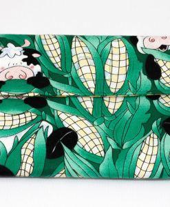 Porte-monnaie pour femme vaches et épis de maïs | Fait main Artigina