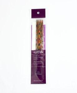 Aiguilles à double pointes 6 po Rainbow Wood de Knit Picks - 2,5mm