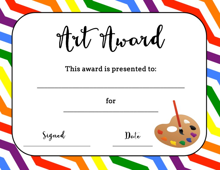 It's just an image of Punchy Printable Award Template