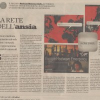 Nuclear Anxiety featured on the italian newspaper il Sole 24 Ore