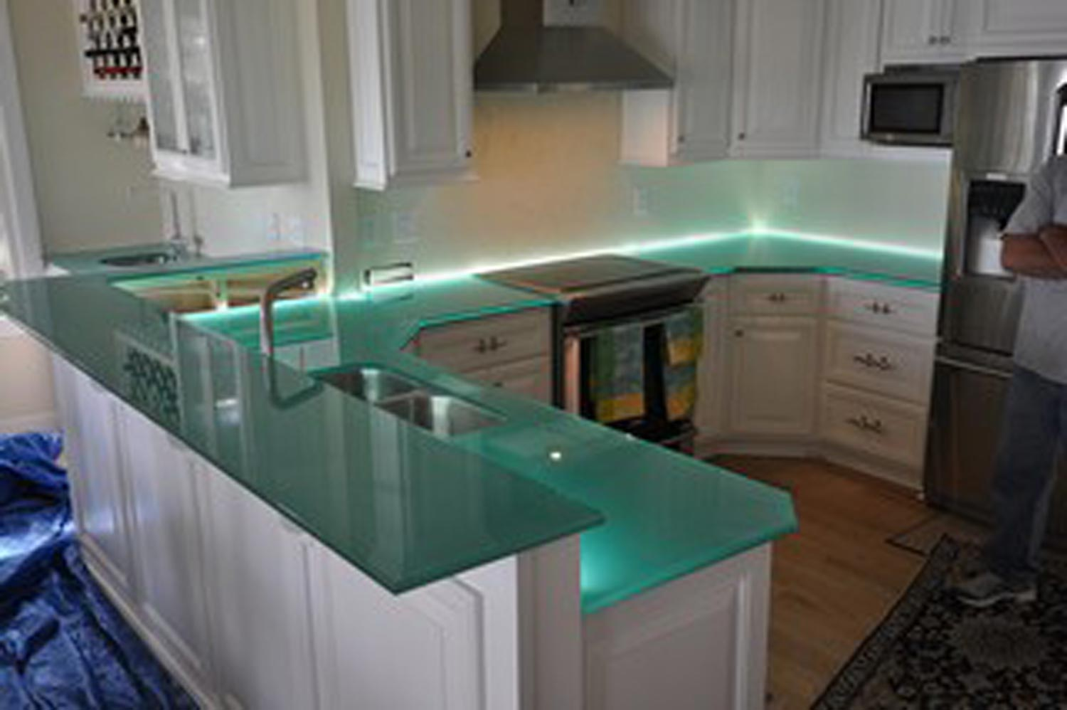 gallery countertops for kitchens Glass Kitchen Countertops