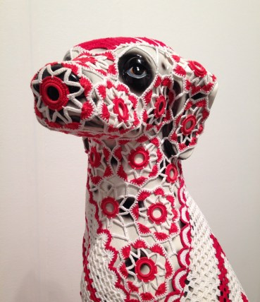 Joana Vasconcelos, 'Anubis,' 2013, faience dog handmade cotton crochet. Galeria Horrach Moya. PULSE Miami
