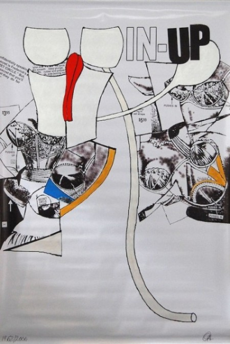 Craig Kauffman, In-Up, 1962/2006, acrylic on printed vinyl. COURTESY OF THE ESTATE OF CRAIG KAUFFMAN AND THE FRANK LLOYD GALLERY.