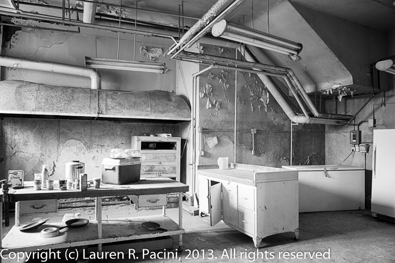 The kitchen  in the basement of the Parish House