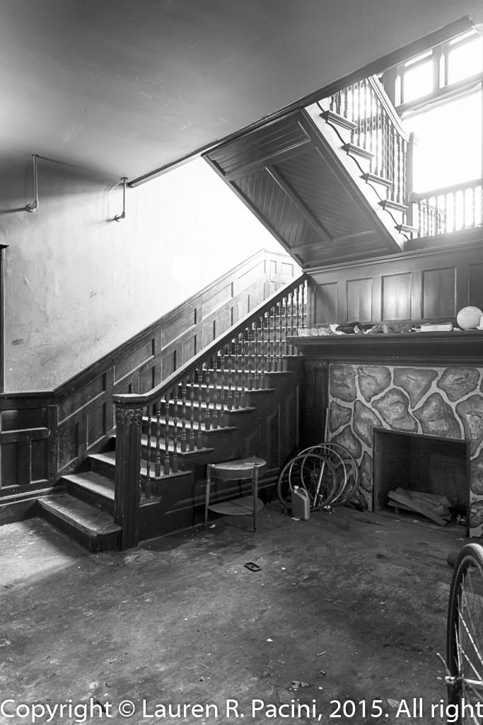 Interior of the Hall-Sullivan House, 7128 Euclid Avenue.