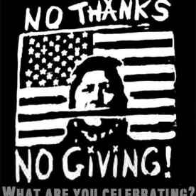 A poster challenging Thanksgiving.