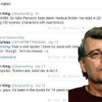 Stephen King, Reckless Twitter User
