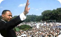 MLK waving