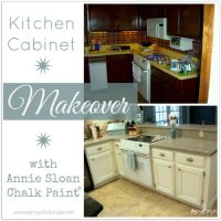 Kitchen Cabinet Makeover {Annie Sloan Chalk Paint}