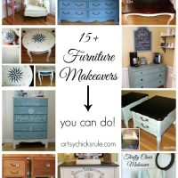 15+ Furniture Makeovers {you can do!}