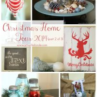 Red & Teal Themed Christmas Home Tour - (part 2 of 3)