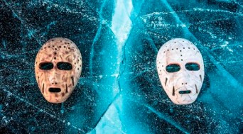 """""""Masks on Ice"""" by Michael Conti."""