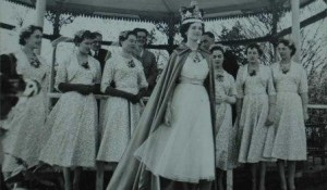 Marilyn Gearing,15 years old, after she had been crowned the Hat Queen at Luton Carnival in April 1954.