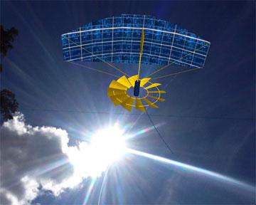 solar-powered hang glider