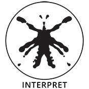 inkblot in the form of insect with wolf profiles in negative space