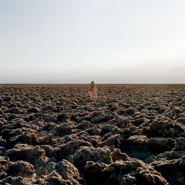 woman in arid landscape