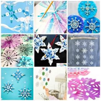 Arty Crafty Kids   Art   12 Stunning Arty Crafty Snowflakes