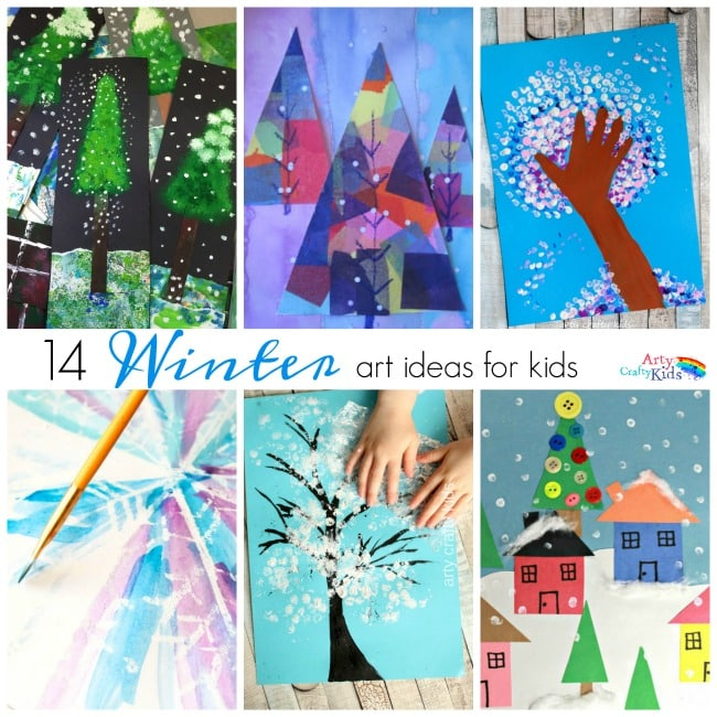 14 ideas para hacer con niños y niñas sobre el invierno a través del arte