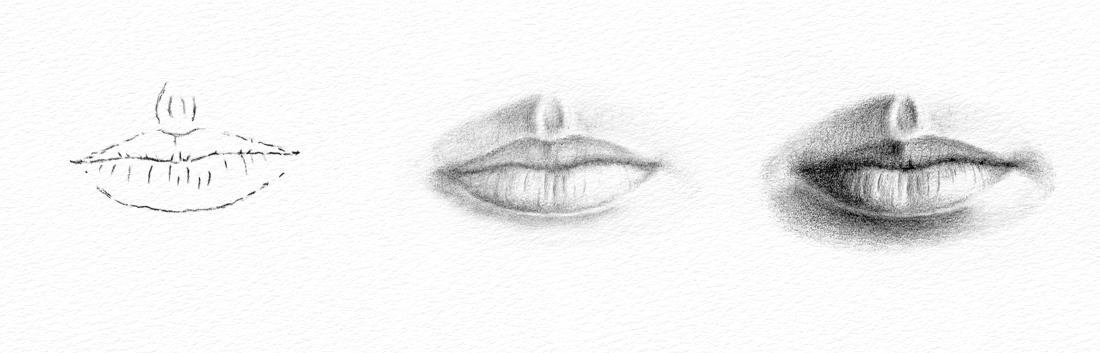 Pencil Portraits   How to Draw a Mouth How to Draw a Mouth