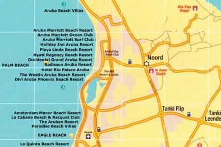Map Of Resorts In Aruba - Aruba map of us