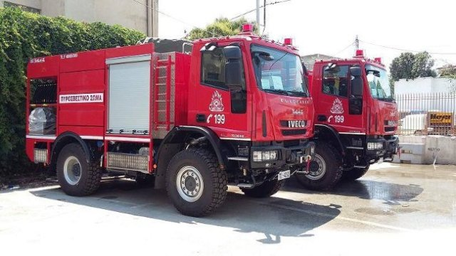 Κάνανε δωρεά στην Αλβανία πυροσβεστικά οχήματα,