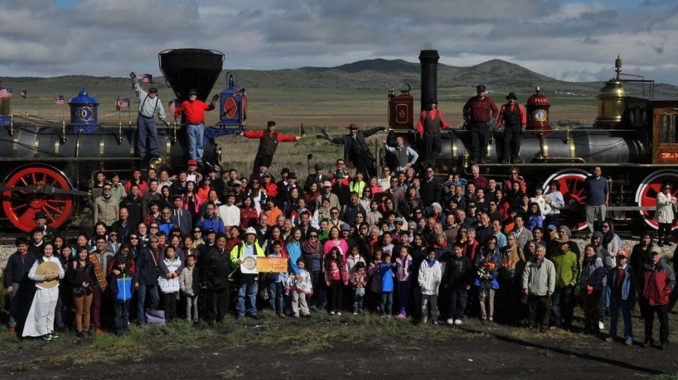 Chinese Americans at Golden Spike