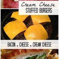 Cream Cheese Stuffed Burgers
