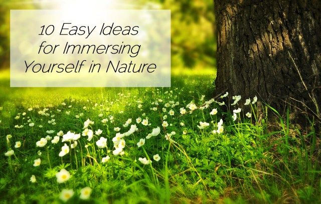 10 Easy Ideas for Immersing Yourself in Nature