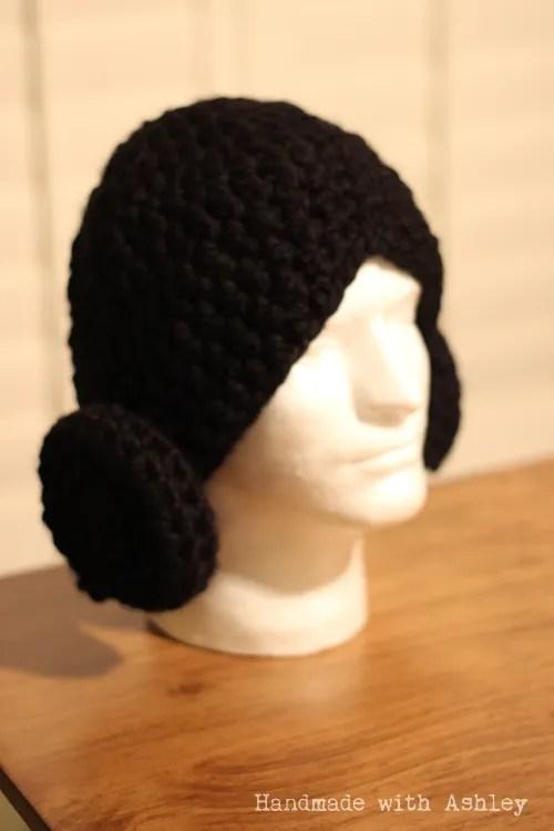 Crochet Pattern Princess Leia Hat : Crochet Princess Leia Hat - Handmade with Ashley
