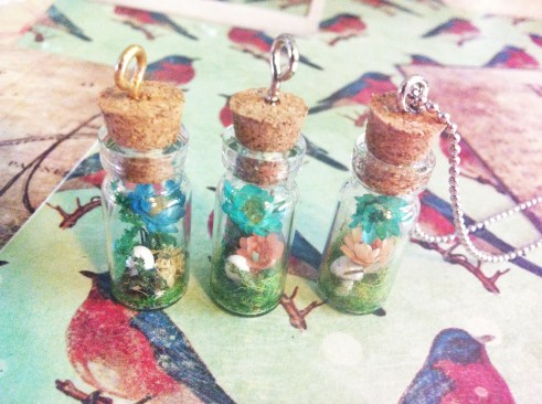 terrarium bottle pendant
