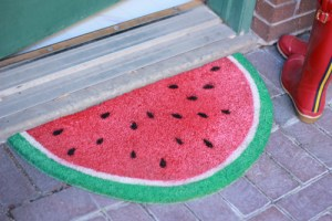 Welcome springtime, literally, with a juicy welcome mat!