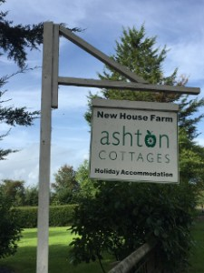 Ashton Cottages Holiday Accommodation sign