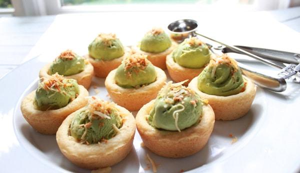 Avocado Green Tea Ice Cream Cups