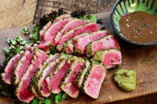 wasabi seared tuna