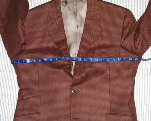 measuring your sports jacket
