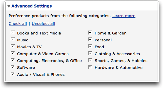 Amazon Context Links (Beta): Advanced Settings
