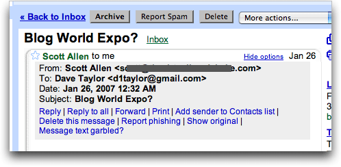Gmail: Add Sender to Contact List