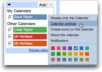 Google Calendar: Settings for Export