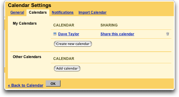 Google Calendar: Calendar Settings